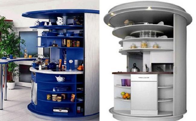 Tủ bếp hình tròn
