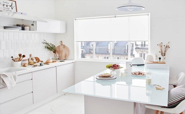 Thiết kế tủ bếp hiện đại màu trắng
