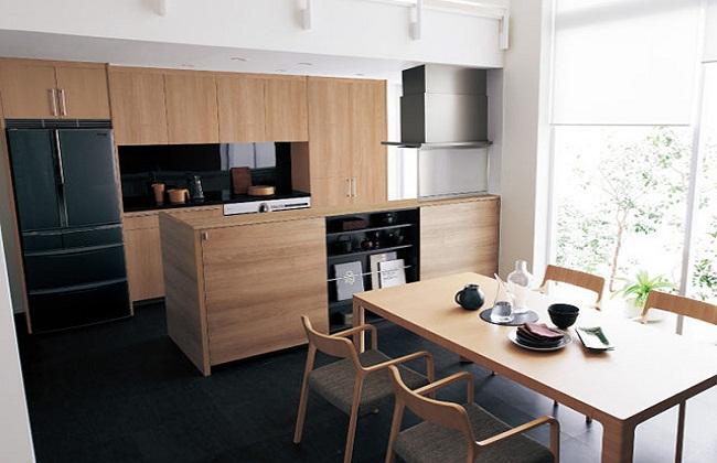 Thiết kế tủ bếp kiểu Nhật