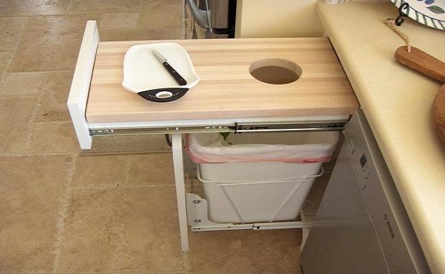 Thiết kế tủ bếp nhỏ đa năng