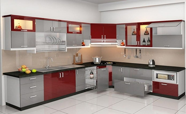Thiết kế tủ bếp nhỏ gọn chữ L