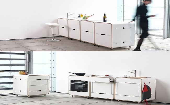 Thiết kế tủ bếp thông minh cho bếp chật