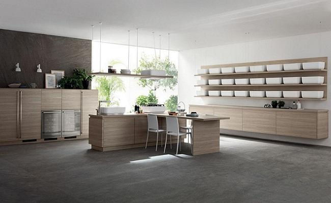 Thiết kế tủ bếp tối giản kiểu Nhật