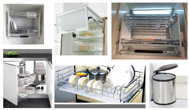 Tổng hợp thiết bị tủ bếp làm từ inox 304