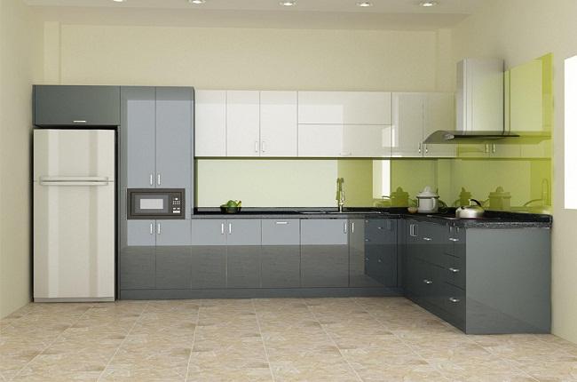 Tủ bếp Acrylic đơn giản