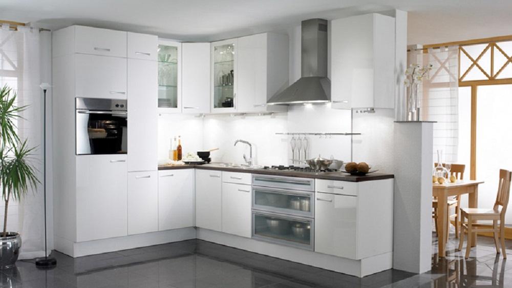 Tủ bếp Acrylic khung inox