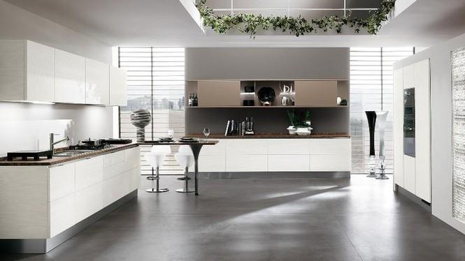 Tủ bếp chung cư không gian mở cao cấp