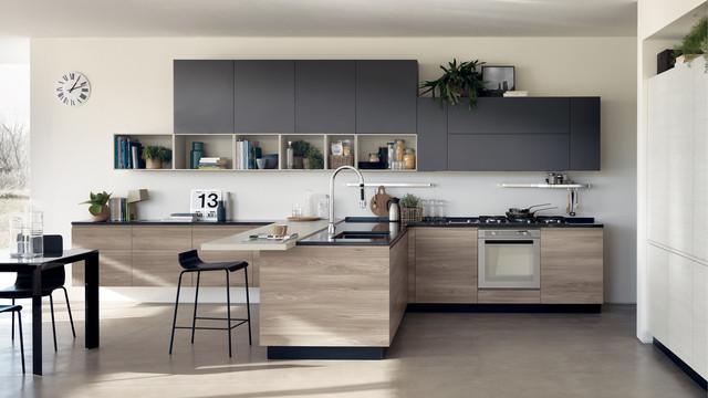 Tủ bếp chung cư gỗ tự nhiên cao cấp