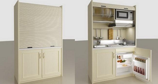 Tủ bếp chung cư mini thông minh