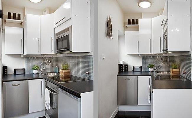 Tủ bếp chung cư nhỏ chữ L