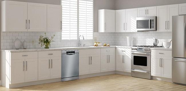 Tủ bếp có máy rửa bát độc lập