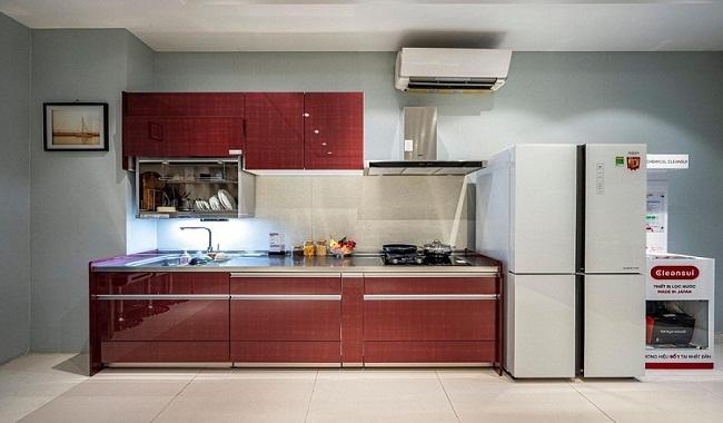 Tủ bếp inox dành cho nhà nhỏ