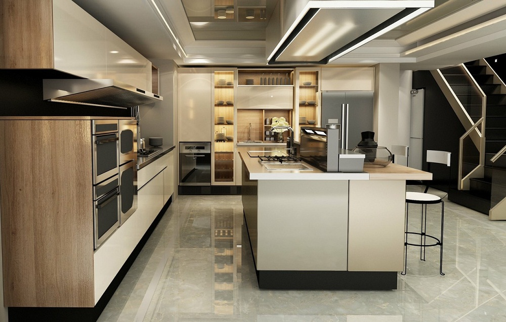 Tủ bếp hiện đại nhập khẩu