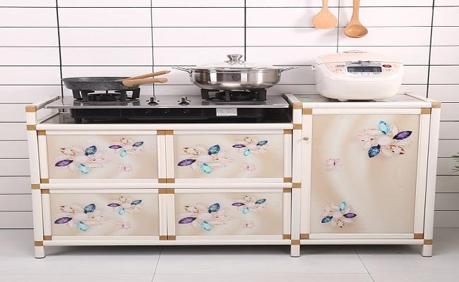 Tủ bếp di động bằng nhôm