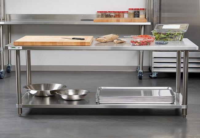 Tủ bếp di động bằng inox