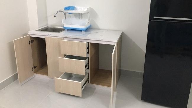 Mẫu tủ bếp mini tiện dụng