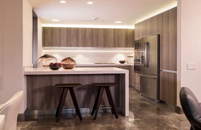 Tủ bếp Laminate đơn giản hiện đại