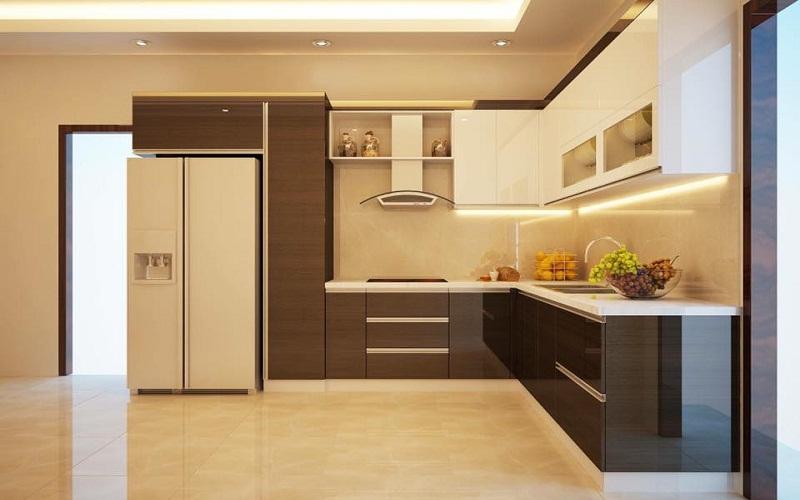 Tủ bếp gỗ Acrylic giá rẻ