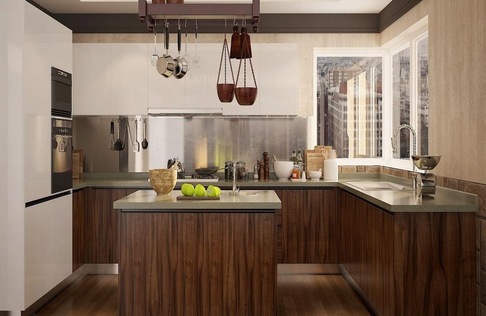 Tủ bếp gỗ công nghiệp cao cấp HDF
