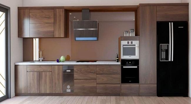 Tủ bếp gỗ công nghiệp lõi xanh