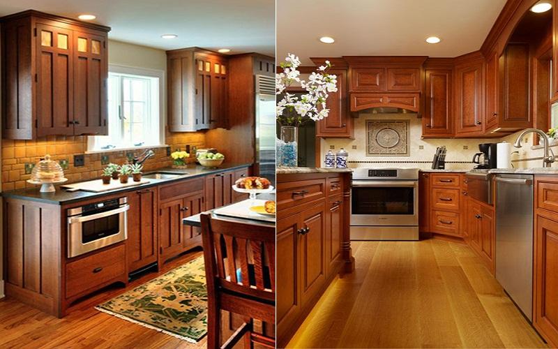 Tủ bếp gỗ hương giá rẻ