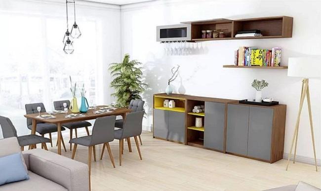 Tủ bếp gỗ nhỏ gọn hiện đại