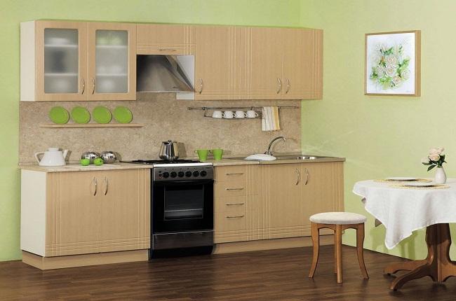 Tủ bếp gỗ nhỏ gọn đơn giản