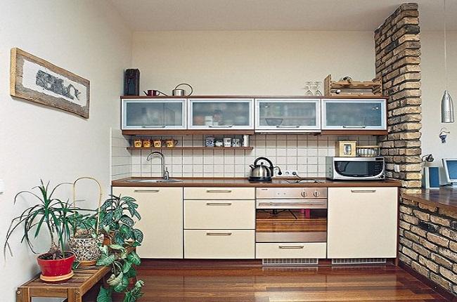 Tủ bếp nhỏ gọn gỗ công nghiệp