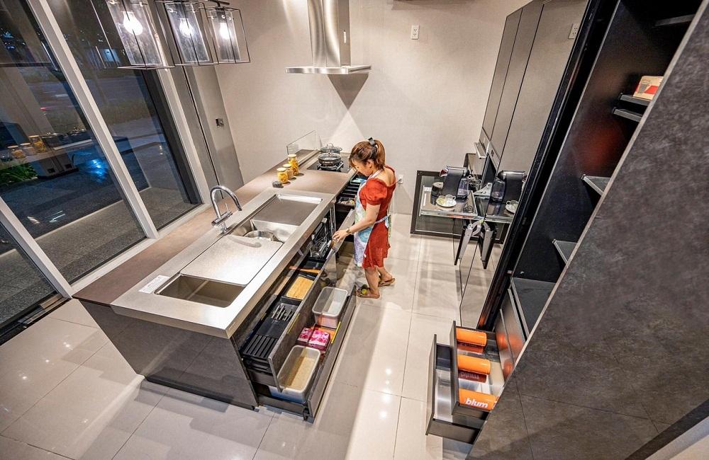 Tủ bếp hiện đại nhất bằng inox