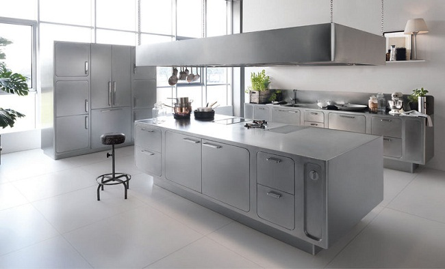 Tủ bếp hiện đại châu Âu