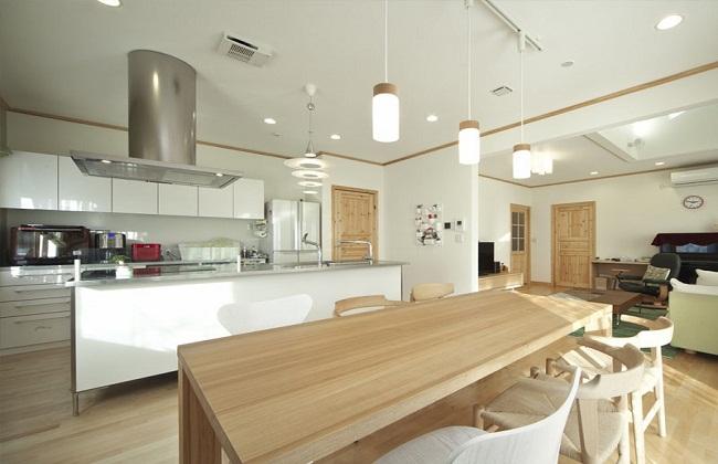 Tủ bếp inox 304 cánh gỗ công nghiệp