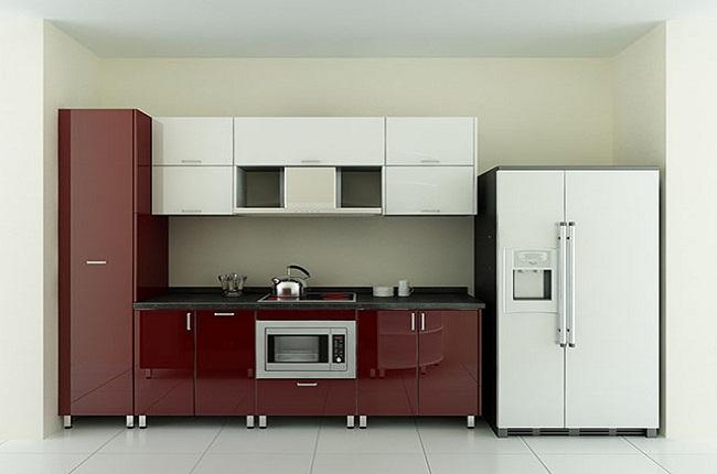 Mẫu tủ bếp inox cánh Acrylic đẹp
