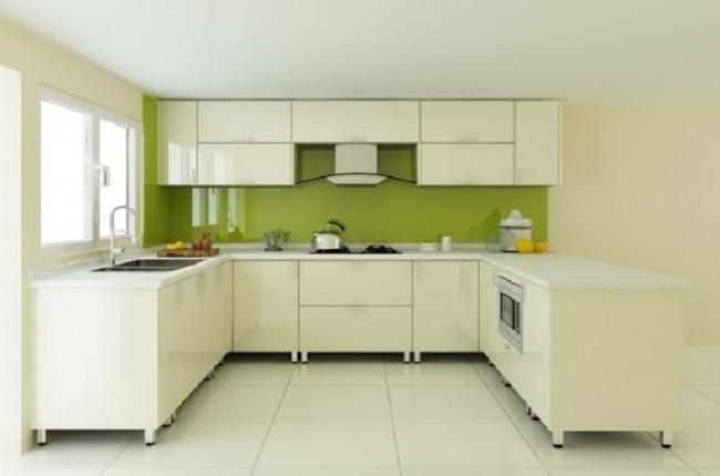 Tủ bếp inox cánh Acrylic đẹp