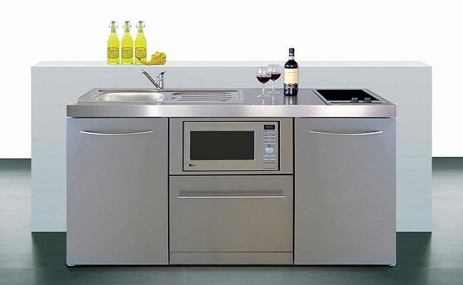 Tủ bếp mini bằng inox đẹp