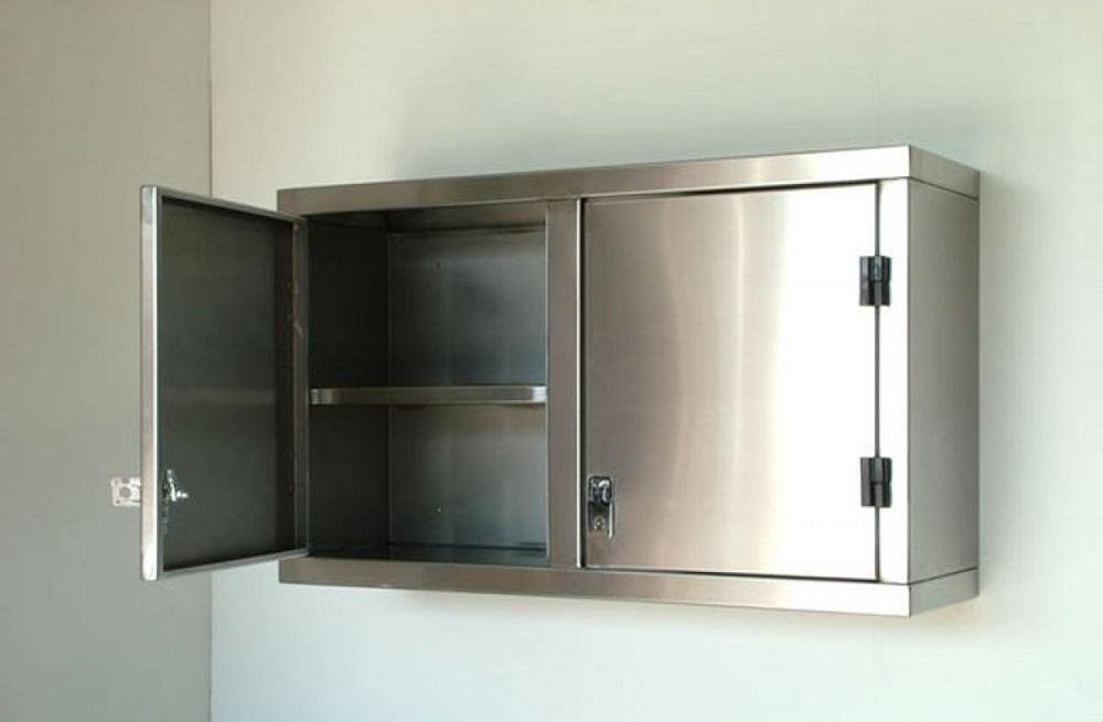 Tủ bếp inox treo tường cánh mở
