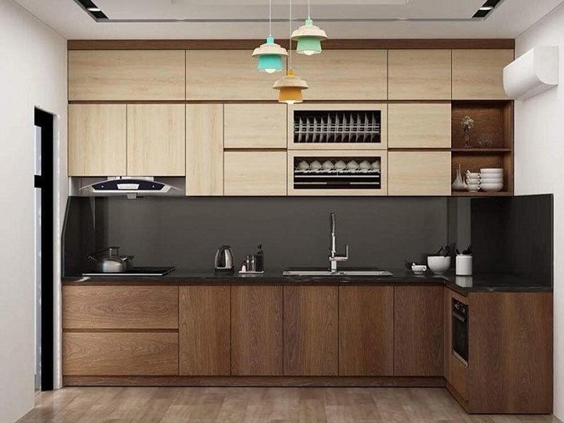 Tủ bếp Laminate hiện đại giá rẻ