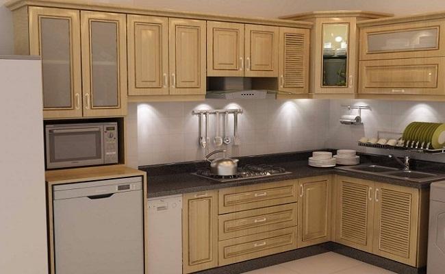 Tủ bếp màu vân gỗ