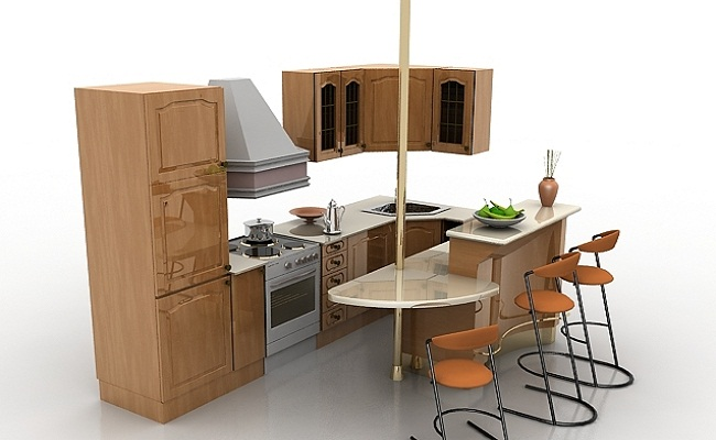 Tủ bếp mini cho chung cư