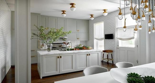 Tủ bếp nhỏ hiện đại bằng gỗ