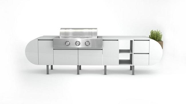 Tủ bếp nhỏ hiện đại độc đáo