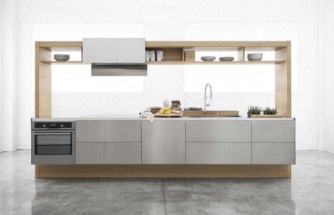 Mẫu tủ bếp nhỏ hiện đại cho nhà có diện tích khiêm tốn
