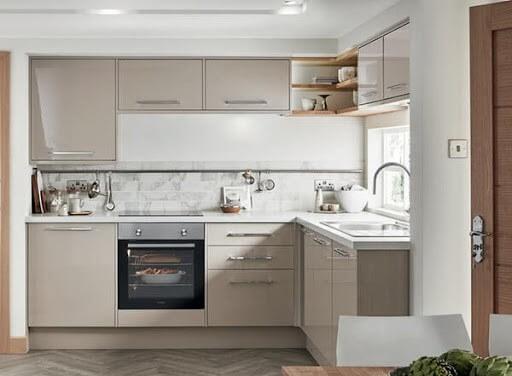 mẫu tủ bếp nhỏ hình chữ L đẹp