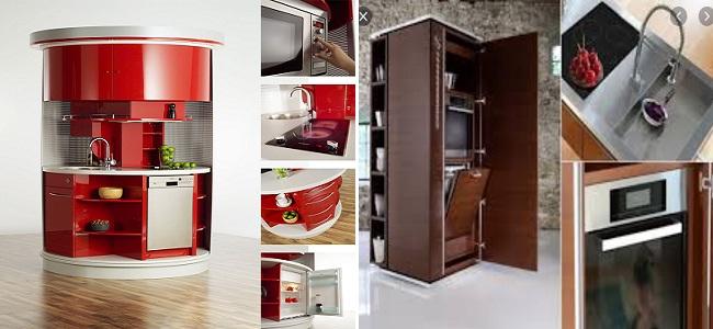 Tủ bếp nhỏ thông minh