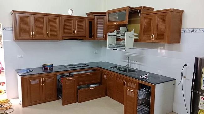 Tủ bếp nhôm cao cấp omega