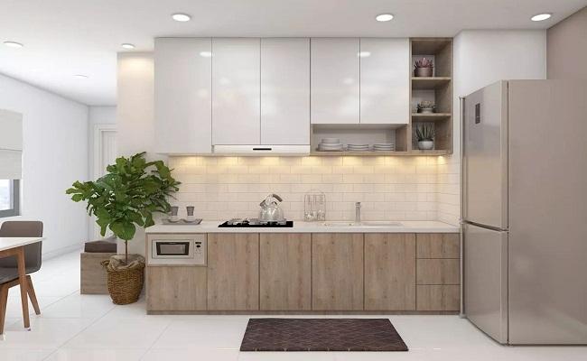 Tủ bếp nhựa PVC cao cấp giả gỗ