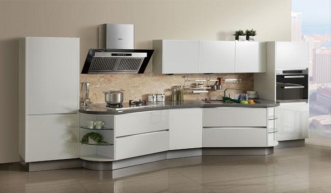 Tủ bếp phong cách châu Âu hiện đại