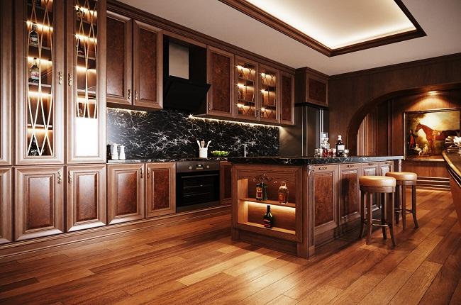 Tủ bếp phong cách tân cổ điển đẹp