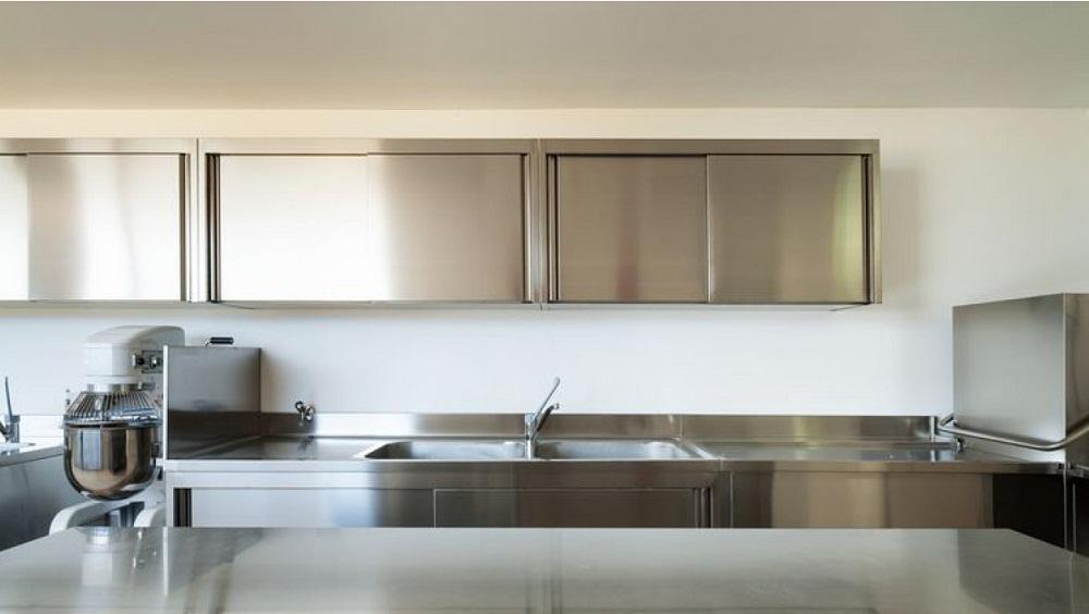 Tủ bếp treo tường bằng inox