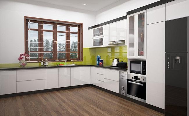 Tủ bếp làm bằng vật liệu nhựa